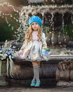 Dreaming of Paris by Irina Chernousova on Little Girl Photos, Little Girl Fashion, Cute Little Girls, Toddler Fashion, Kids Fashion, Little Girl Dresses, Flower Girl Dresses, Dolly Fashion, Cute Dresses