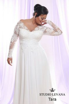 Plus size brides can have a soutage lace wedding dress made custom to your  body that has sheer beaded long lace sleeves Long Sleeve Wedding Dress for Plus Size Bride   Darius Cordell  . Plus Size Wedding Reception Dresses For The Bride. Home Design Ideas