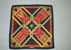 """Vintage HERMES """"BRINS D'OR"""" 100% Silk SCARF 35x35in #HERMS #Scarf"""