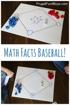 Math Facts Baseball - Use this game to practice addition, subtraction, multiplication, or division facts!