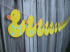 Ducky Birthday Banner