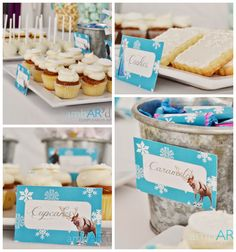 Frozen themed birthday party with Such Cute Ideas via Kara's Party Ideas! Full of decorating tips, cakes, cupcakes, favors, games, and MORE!...