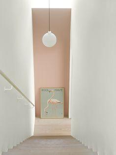 Wall Paint: Fenomastic My home Rich Matt: 2992 Delightful pink, Rich Matt 1624 Skylight Pink Hallway, Hallway Colours, Wall Colors, Interior Desing, Interior Inspiration, Interior And Exterior, Interior Styling, Jotun Lady, Halls