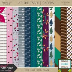 FREE PS Dec 2016 Blog Hop : At the Table Freebie