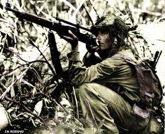 U.S. Marine sniper - the Pacific theatre ww2