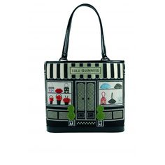 Lulu Guinness - I HAVE THIS ONE!  Ellis Street Shop Front Embroidered Bag