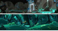 serie infantil Jamie's Got Tentacles!_francesa Samka Productions. Autoria conjunta entre Gael BECU (background paintings) Y Thomas GREFFARD (Backgrounds design).