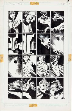 Original page by Frank Miller and Klaus Janson from Batman: The Dark Knight Returns #1, published by DC Comics, 1986.