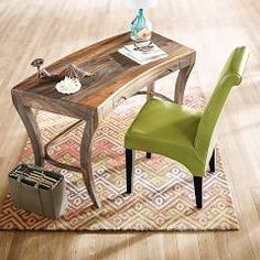 Nielson Desk from Grandin Road. Love this beautiful wood!