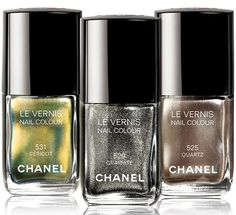 "Chanel ""Graphite"" nail polish"