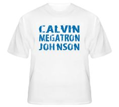 Calvin Megatron Johnson - Lions Football inspired T Shirt