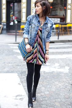 Zoé Alalouch - Levi's® Veste, Missoni Dress, Zara Bag - RAINBOW