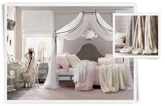 Bed in front of window this way?  Rooms | Restoration Hardware Baby & Child