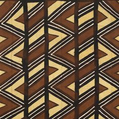 African Mud Cloth Fabric Painting
