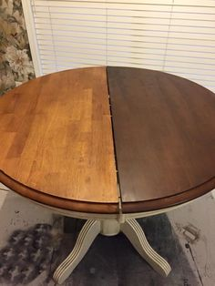 Want to darken your dated golden oak table but don't want to strip? Rethunk Junk…