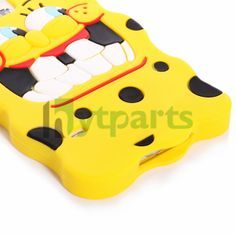 Cute Cartoon Pattern Soft Silicone 3D SpongeBob Back Case for Samsung Galaxy S5 i9600 Protects your Galaxy S5 from daily stains and damages in a funny and cute way