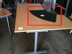 IKEA Desk Pads | Black Desk Pad for IKEA Galant Desk = $15 | Flickr - Photo Sharing!