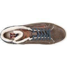 MUSTANG Sneaker Herren, Taubenblau Hellbraun, Größe 46