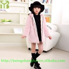 New Arrived winter outwear kids clothing baby girl faux fur coat rabbit fur jacket fur parka factory direct sale