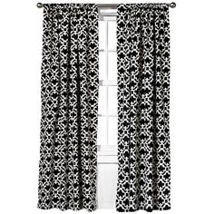 Farrah Fretwork Curtain Panel Black ($20) ❤ liked on Polyvore featuring home, home decor, window treatments, curtains, window, target curtains, threshold window panel, black curtain panels, window valances and window curtain panels
