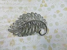 Vintage Silver Filigree Leaf Brooch  BR-158 by EyecatchersBoutique