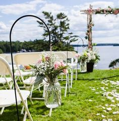 Memorable Wedding: Outdoor Wedding... but without the mason jar thing