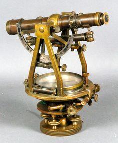 Auctions | 4003 - W. & L. E. Gurley Brass Sextant | Kaminski Auctions