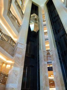 Impressive elavator at Emirates Palace, Abu Dhabi