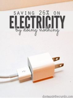 This trick to save electricity is so simple, I can't believe we didn't think of it sooner. It saved us 26% the first month alone, and it's continued to work years later! :: DontWastetheCrumbs.com