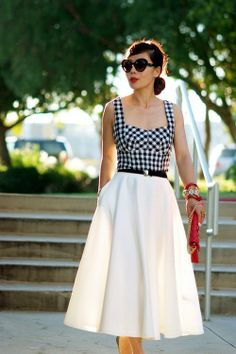 Gingham and A-lined