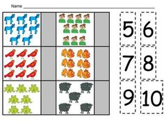 **FREE** Brown Bear Counting Sets Independent Practice