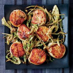 Ready in just 12 minutes, these delicious scallops are perfect with crisp-tender fennel and a lemon-caper dressing.