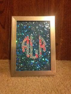 DIY Monogram picture frame