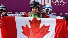 Canada's Dominique Maltais competes in women's snowboard cross in Sochi