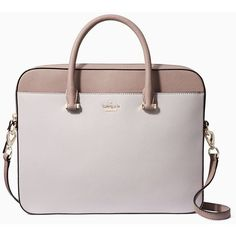 Kate Spade Saffiano Laptop Bag (£235) ❤ liked on Polyvore featuring home, home decor, kate spade, kate spade home decor and whimsical home decor