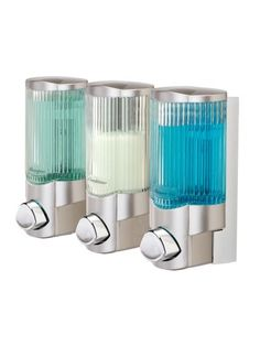 Better Living Products Signature Dispenser lll, Three Chamber Shower Dispenser with Ribbed Bottle, Satin Nickel Better Living,http://www.amazon.com/dp/B001CD2ITU/ref=cm_sw_r_pi_dp_sTt5sb1XE0J6W04N