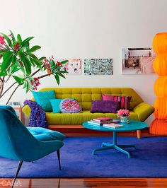 Lots of color in a gorgeous design! - Dcoracao.com - decorating blog