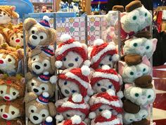 Hong Kong released an exclusive Christmas 2016 Duffy, ShellieMay, and Gelatoni Tsum Tsum last month. Each Tsum Tsum is dressed in festive sweaters and headgear. Sophie's Choice, Duffy The Disney Bear, Tsumtsum, Disney Tsum Tsum, Heart For Kids, Christmas 2016, Hong Kong, Plush, Toys