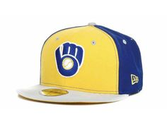Milwaukee Brewers New Era 59FIFTY MLB G-Stitch Cap Hats- size 7 1  cd61c83f23bf