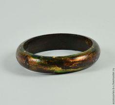 """Купить Сет из браслетов """"Wood, leather & marble"""" - Браслет ручной работы, браслет коричневый"""