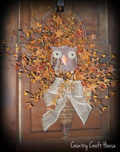 Primitive Owl Wall Basket  ~from Country Craft House