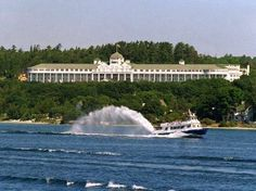 A favorite spot in the state next door:  Mackinaw Island's Grand Hotel is celebrating it's 125th anniversary this summer.