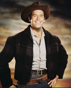 CLINT WALKER who starred in the popular 1950s TV show CHEYENNE is one of my top favorite hunks of all time--plus a great guy & has a good voice too.