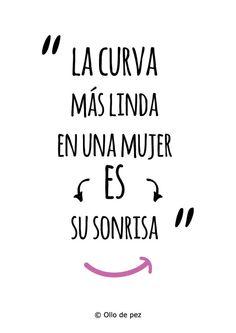 """""""La curva más linda en una mujer, es su sonrisa"""" (Bob Marley) #frases*"""