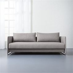 tandom grey sleeper sofa  | CB2