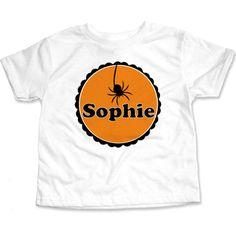 Spider Bite Circle T-Shirt   Cool Kids Halloween Tee