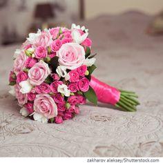 Brautstrauß mit Rosen in pink Bridal Flowers – Wedding