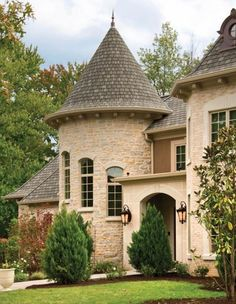 The homeowner had a dream of building a home that was reminiscent of a French estate or castle that would be complete with a turret and cupola.    Photos by Robin Victor Goetz/RVGP Inc.