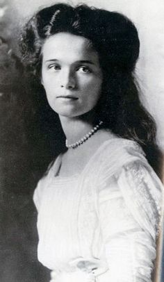 Grand Duchess Olga Nikolaevna of Russia (1895-1918.) was the eldest child of Tsar Nicholas II. From an early age she was considered compassionate yet moody. During World War I she was a Red Cross nurse. After her fathers abdication in March of 1917, she was imprisoned with her family, at Tsarskoye Selo, Tobolsk, and Yekaterinberg. It was in Yekaterinberg that she was killed by Bolsheviks along with her parents and siblings.