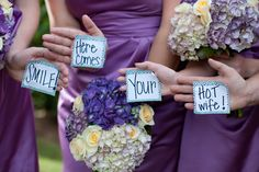 Adorable groom's surprise before you walk down the aisle